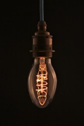 (K) Edison Bulb, Pod style, Screw in pk 1.