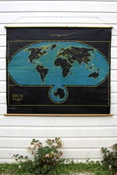 *The world Denoyer Geppert cartograph chalk map very RARE!