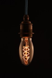 (V) Edison Bulb, Tri style, Screw-fitting pk 6 .