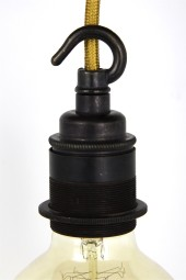(aa) Lampholder with hook. Large. Bronze. Screw.