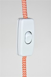 in line cord on/off switch. white.