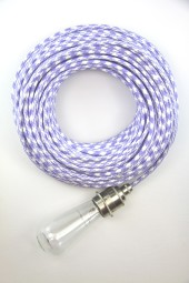 Fabric Cloth Electrical Cord x1m. Houndstooth Lilac.