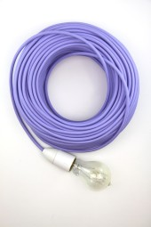 Fabric Cloth Electrical Cord x1m. Lilac.