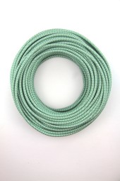 Fabric Cloth Electrical Cord x1m. ZigZag Green.