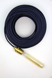 Fabric Cloth Electrical Cord x1m. Dark Blue.