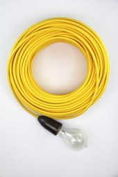 Fabric Cloth Electrical Cord x1m. Yellow.
