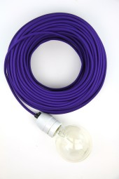 Fabric Cloth Electrical Cord x1m. Purple.
