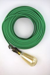 Fabric Cloth Electrical Cord x1m. Green.