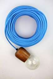Fabric Cloth Electrical Cord x1m. Mid-Blue.