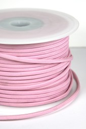 Special Fabric Cloth Electrical Cord x1m. Light Pink 2 core.