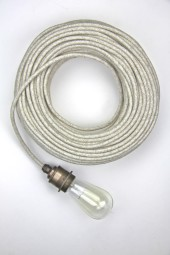 Fabric Cloth Electrical Cord x1m. Woven Cream.