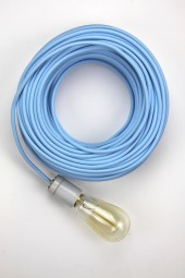 Fabric Cloth Electrical Cord x1m. Light Blue.