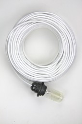 Fabric Cloth Electrical Cord x1m. Bright White.