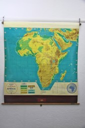 *Africa crams map large.