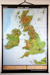 * british U.K. map HUGE!