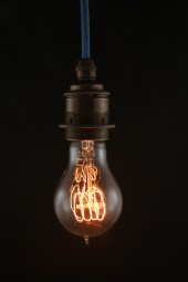(a) Thomas Edison light bulb. Round style. Screw. 40watt. Pk6.