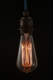 (b) Thomas Edison light bulb. Tear drop long. Screw-fitting. Pk1.