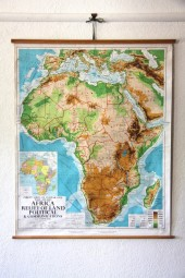 *Africa geographical. relief and political map.