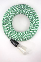 Fabric Cloth Electrical Cord x1m. Houndstooth Green and White.