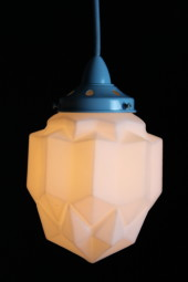 Art Deco Modern Pendant Light blue