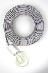 Fabric Cloth Electrical Cord x1m. *Glitter* Silver.
