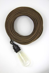 Fabric Cloth Electrical Cord x1m. *Glitter* Bronze.