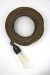Empirical Style Cloth Cord Flex Electrical Cable Metallic Glitter_5732