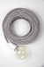 Empirical Style Cloth Cord Flex Electrical Cable_5656
