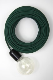 Fabric Cloth Electrical Cord x1m. Dark Green.