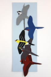 Hand made mobiles – American Birds.
