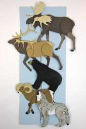 Hand made mobiles – Woodland animals.