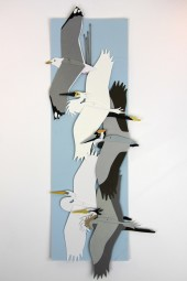 hand made mobiles – storks.