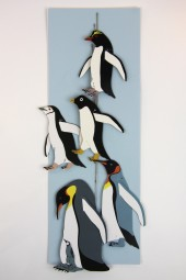 Hand made mobiles – Penguins.