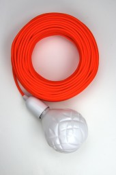 Fabric cloth electrical cord x1m. Fluro Orange.
