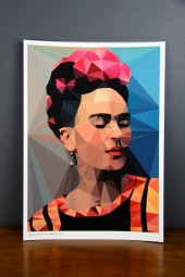 Studio Print: Blue Frida Kahlo