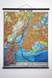 * NEW YORK Manhattan classic 1962 wall map.