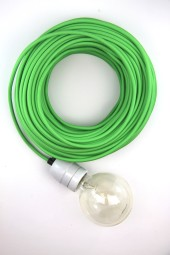 Fabric Cloth Electrical Cord x1m. Bright Green.