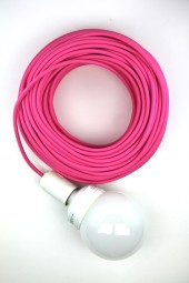 Fabric Cloth Electrical Cord x1m. Pink.