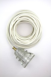 Fabric Cloth Electrical Cord x1m. Cream.