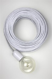 Fabric Cloth Electrical Cord x1m. *Glitter* White.