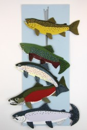 Hand made mobiles – Trout.