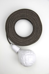 Fabric cloth electrical cord x1m. Natural dark brown weave.
