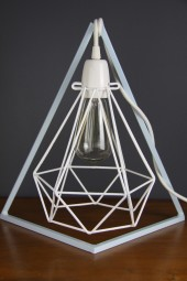 Geometric bedside table lampstand