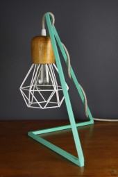 Geometric bedside table lampstand Peppermint