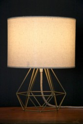 """""""A Geo bedside table lamp'"""" gold."""